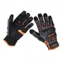 SEALEY MECHANIC'S GLOVES ANTI-COLLISION - LARGE PAIR