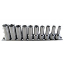 3/8 INCH SD METRIC SEMI DEEP HEXAGON SOCKET SET, 6MM - 15MM BRITOOL HALLMARK MSHSET10