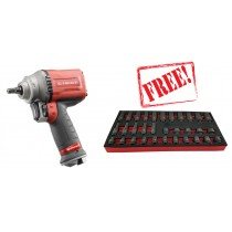 "FACOM TOOLS NJ.3000F 3/8"" PREMIUM IMPACT WRENCH 710NM + FREE 32PC IMPACT SOCKET SET"