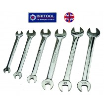 """BRITOOL ENGLAND AF OPEN JAW SPANNER / WRENCH SET 1/4"""" TO 5/8"""""""