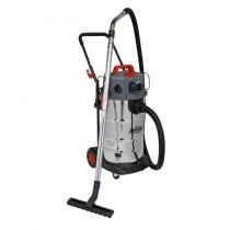 VACUUM CLEANER INDUSTRIAL DUST-FREE WET/DRY 38L 1500W/230V STAINLESS STEEL DRUM