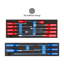 10PC SLOTTED & FLARED SCREWDRIVER SET MODULE FROM BRITOOL HALLMARK