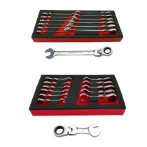 FLEXI RATCHET SPANNER SET + FLEXI STUBBY RATCHET SPANNER SET BRITOOL HALLMARK