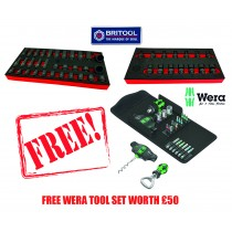 BRITOOL FLEXI UJ IMPACT SOCKET SET + 32PC IMPACT SET + FREE WERA TOOL SET