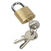 BRASS BODY PADLOCK 30MM FROM SEALEY PL100 SYSP