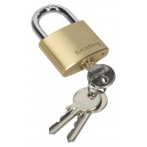BRASS BODY PADLOCK 40MM FROM SEALEY PL101 SYSP