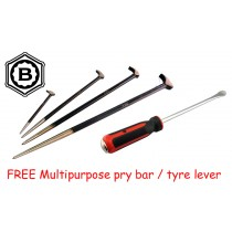 HEELBAR PRY BAR SET + FREE MULTIPURPOSE PRY BAR / TYRE LEVER BRITOOL HALLMARK