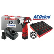 "ACDELCO CORDLESS 3/8"" 10.8V HIGH POWER IMPACT WRENCH / DRIVER + FREE SOCKET SET FROM BRITOOL HALLMARK"