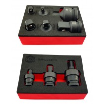 IMPACT SOCKET ADAPTER SET + UJ UNIVERSAL JOINT SET FROM BRITOOL HALLMARK