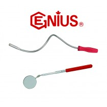 TELESCOPIC HINGED INSPECTION MIRROR + FLEXIBLE MAGNETIC PICK-UP TOOL FROM GENIUS TOOLS