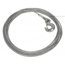 SEALEY PW1360.WR WIRE ROPE WITH HOOK ( DIA. 5.4MM X 15.2MTR) FOR PW1360
