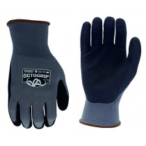 OCTOGRIP POLYESTER NITRILE PALM WORK GLOVES SIZE LARGE