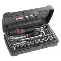 FACOM TOOLS R.2A 1/4 INCH METRIC SOCKET & BIT SET