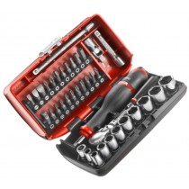 "1/4"" DRIVE METRIC 6PT SOCKET & BIT SET + RL.161 RATCHET FROM FACOM"