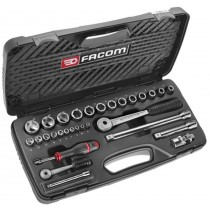 FACOM TOOLS RS.430E 1/4 INCH & 1/2 INCH SOCKET SET