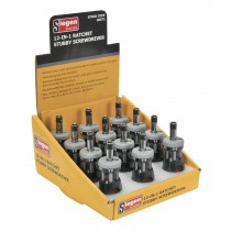 SIEGEN S0572 RATCHET STUBBY SCREWDRIVER SET 12-IN-1 DISPLAY BOX OF 12