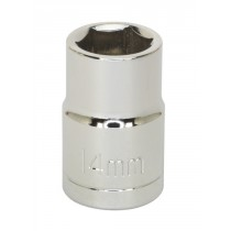 """14MM 1/2"""" SQ DRIVE SOCKET WITH WALLDRIVE FROM SIEGEN S065"""