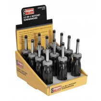 SIEGEN S0901 RATCHET SCREWDRIVER 12-IN-1 DISPLAY BOX OF 12