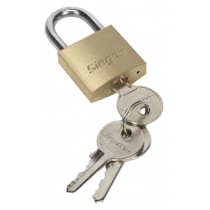 SIEGEN S0986 BRASS BODY PADLOCK WITH BRASS CYLINDER 30MM