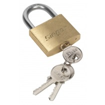 BRASS BODY PADLOCK WITH BRASS CYLINDER 40MM FROM SEALEY'S SIEGEN RANGE S0987 SYSP