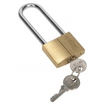 BRASS BODY PADLOCK WITH BRASS CYLINDER LONG SHACKLE 40MM SEALEY'S SIEGEN RANGE S0989 SYSP