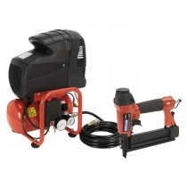 SEALEY SA0615KIT AIR NAIL/STAPLE GUN KIT INCLUDING COMPRESSOR, HOSE & NAILER/STAPLER