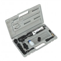 SEALEY SA20-KIT AIR RATCHET WRENCH WITH SOCKETS 3-8 INCH SQ DRIVE
