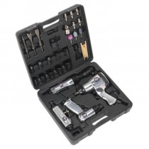AIR TOOL KIT 4PC WITH ACCESSORIES FROM SEALEY