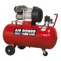 COMPRESSOR 100LTR V-TWIN DIRECT DRIVE 3HP FROM SEALEY