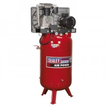 SEALEY COMPRESSOR 270LTR VERTICAL BELT DRIVE 7.5HP 3PH 2-STAGE C/W CAST CYLINDERS