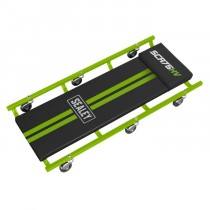 """36"""" DELUXE AMERICAN-STYLE CREEPER WITH STEEL FRAME & 6 WHEELS - HI-VIS GREEN"""