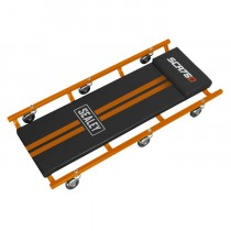 """36"""" DELUXE AMERICAN-STYLE CREEPER WITH STEEL FRAME & 6 WHEELS - ORANGE"""