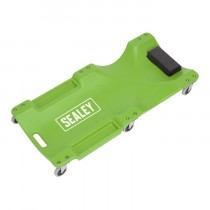 SEALEY COMPOSITE CREEPER WITH 6 WHEELS - HI-VIS GREEN
