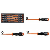 PROFESSIONAL 8PC INSULATED SLOTTED, POZI & PHILLIPS SCREWDRIVER SET FROM CUSTOR TOOLS