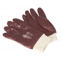 PVC CHEMICAL HANDLING GLOVES KNITTED WRIST PAIR FROM SEALEY SSP31 SYSP