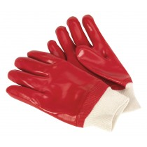 SEALEY SSP31D PVC CHEMICAL HANDLING GLOVES KNITTED WRIST - PACK OF 12 PAIRS