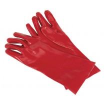 SEALEY SSP32D PVC CHEMICAL HANDLING GAUNTLETS 355MM CUFFED - PACK OF 12 PAIRS