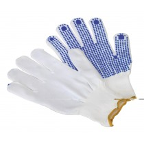 PVC ANTI-SLIP NYLON KNITTED GLOVES - PAIR FROM SEALEY SSP51 SYSP