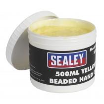 SEALEY SSW05 YELLOW BEADED HAND GEL 500ML