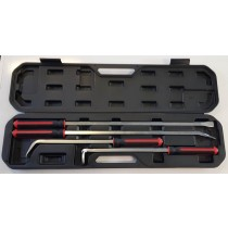 4PC HEAVY DUTY PRY BAR SET PROFESSIONAL QUALITY FROM CUSTOR TOOLS