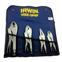IRWIN TOOLS T71 4 PIECE VISE-GRIP LOCKING PLIERS SET