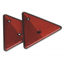 REAR REFLECTIVE RED TRIANGLE PACK OF 2 FROM SEALEY TB17 SYSP