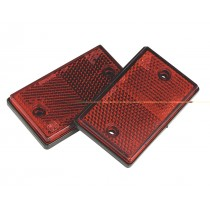 REFLEX REFLECTOR RED OBLONG PACK OF 2 FROM SEALEY TB24 SYSP