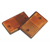 REFLEX REFLECTOR AMBER OBLONG PACK OF 2 FROM SEALEY TB25 SYSP