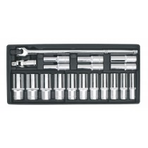 SEALEY TBT22 TOOL TRAY WITH SOCKET SET 19PC 1-2 INCH SQ DRIVE DEEP