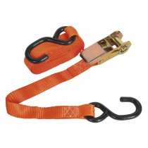 RATCHET TIE DOWN 25MM X 4.5MTR POLYESTER WEBBING WITH S HOOK SEALEY TD0845S SYSP