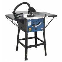 SEALEY TS10SEW TABLE SAW 254MM WITH STAND & EXTENSION TABLES