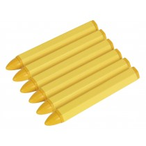 TYRE MARKING CRAYON - YELLOW PACK OF 6 FROM SEALEY TST14 SYSP