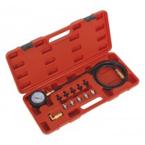 OIL PRESSURE TEST KIT 12PC FROM SEALEY VSE203