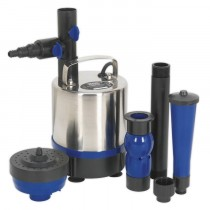 SEALEY SUBMERSIBLE POND PUMP STAINLESS STEEL 3600L/HR 230V